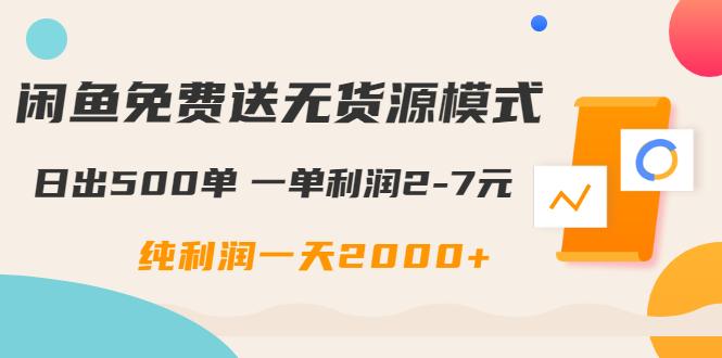 闲鱼免费送无货源模式是如何日出500单的?一单利润2-7元 纯利润一天2000+插图