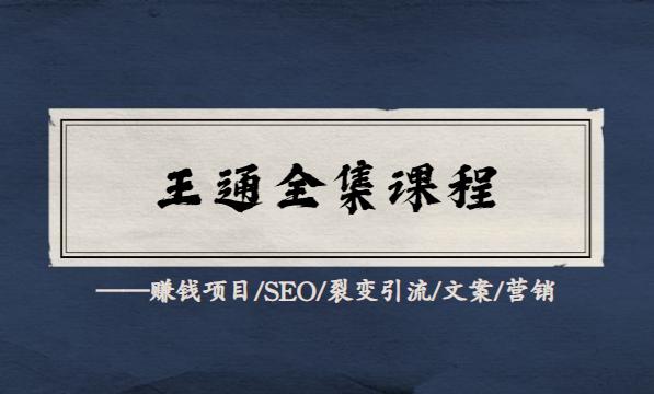 王通全套教程合集(赚钱项目/SEO/裂变引流/文案/营销插图