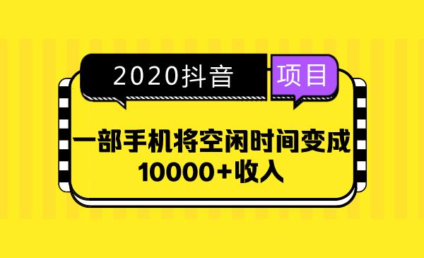 2020抖音项目,一部手机将空闲时间变成10000+收入插图